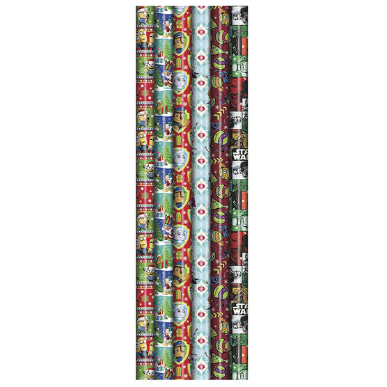 Plus Mark Licensed Character Gift Wrap - 40x144in - 083509PMT - Assorted