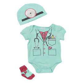 Baby Mode Future Doctor 3-Piece Onesie Set - 7760 - Assorted