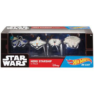 Hot Wheels Star Wars Hero Starship - 4 Pack