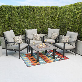 Bond Fire Table Chat Chair Set - 5 piece