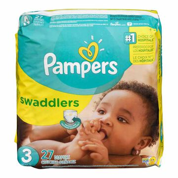 Pampers Swaddlers Diapers - Size 3 - 27's