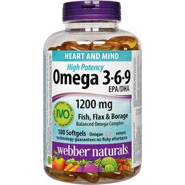 Webber Naturals Omega 3-6-9 Extra Strength Softgels - 180's