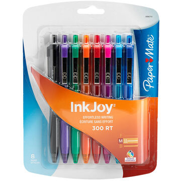 Papermate InkJoy 300RT Pen - Fashion Colours - 8 pack