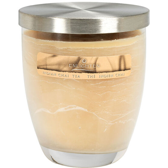 Wax Jar Candle with Lid - Indian Chai Tea - 10oz