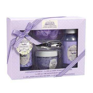 Les Fleurs de Provence Bath Set - Lavender - 5 piece
