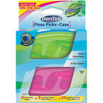 DenTek Floss Picks and Case - Mouthwash Blast - 4's