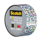 3M Scotch Expressions Metallic Tape - Silver Sprinkle