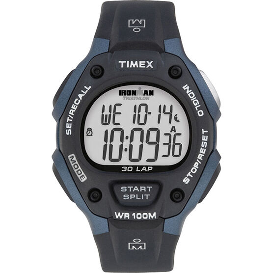 Timex Ironman Watch - Black/Blue - T5H591GP