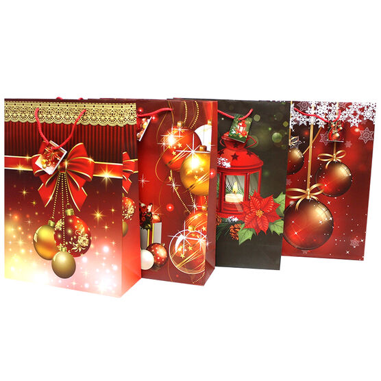 Christmas Wide Jumbo Gift Bag - Assorted