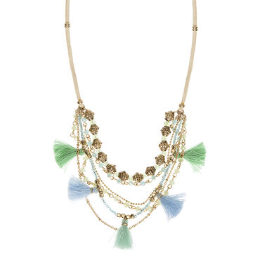 Lonna & Lilly 20-inch Multi Row Necklace - Green