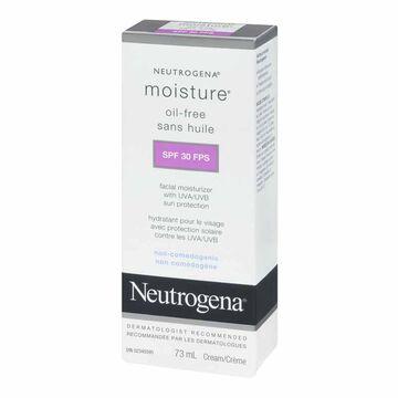 Neutrogena Moisture Oil-Free Facial Moisturizer Cream - SPF 30 - 73ml