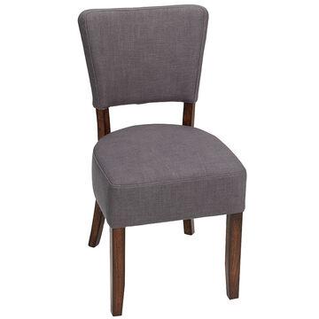 London Drugs Linen Chair - Grey - 43 x 53 x 85cm