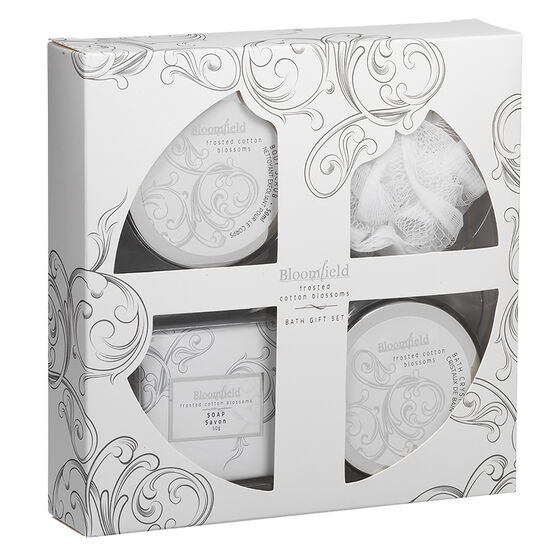 Bloomfield Box Gift Set - Frosted Cotton Blossoms - 4 piece