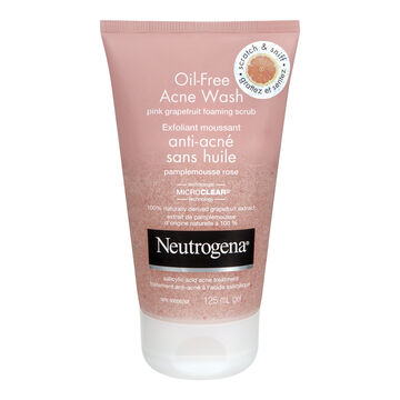 Neutrogena Oil-Free Acne Wash Pink Grapefruit Foaming Scrub - 125ml