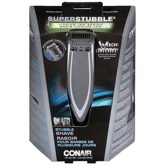 Conair Super Stubble Lithium Ion Series Shaver - GMT1000C