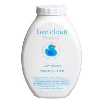 Live Clean Gentle Moisture Silky Baby Powder - 150g