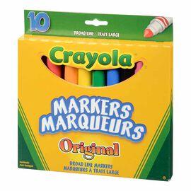 Crayola Original Broad Line Markers - 10 pack