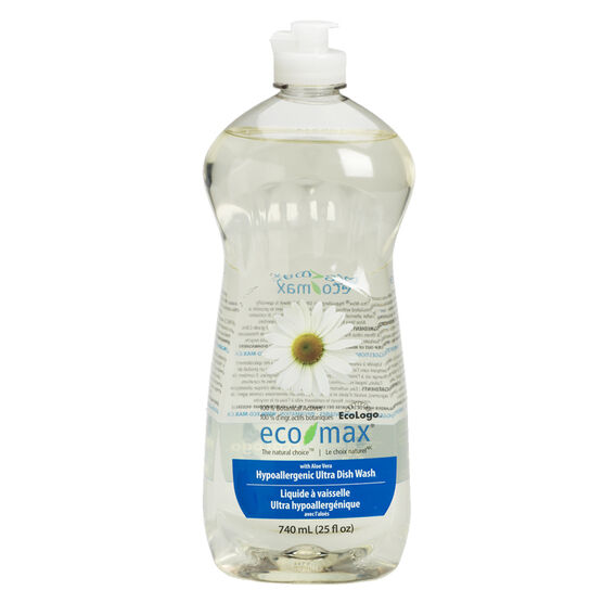 Eco Max Hypoallergenic Ultra Dish Wash - Unscented - 740ml