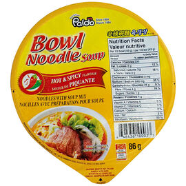 Paldo Noodle Bowl - Hot & Spicy - 86g
