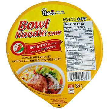 Paldo Noodle Bowl - Hot & Spicy - 86g