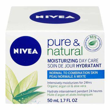 Nivea Visage Pure & Natural Moisturizing Day Care - 50ml