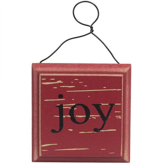 Winter Wishes Joy Ornament - 3.25in - XLD655284FOB