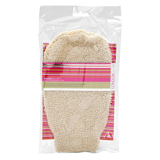 London Look Bouclé Bath Mitt