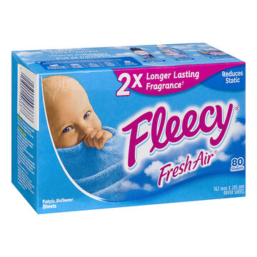 Fleecy Fabric Softener Sheets - Fresh Air - 80's