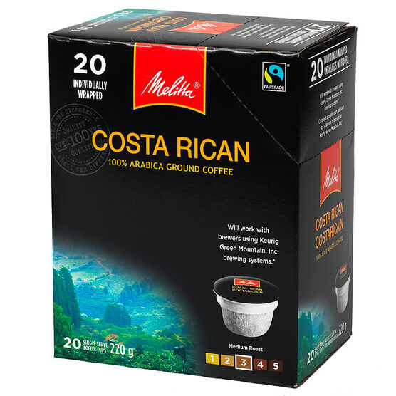 Melitta Cups Costa Rican Coffee - 20 servings