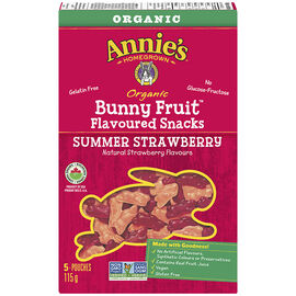 Annie's Organic Bunny Fruit Snacks - Summer Strawberry - 115g