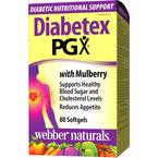 Webber Naturals Diabetex PGX with Mulberry Softgels - 80's