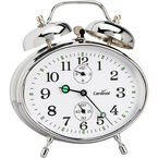 Cardinal Key Wound Twin Bell Alarm - Silver - 8827