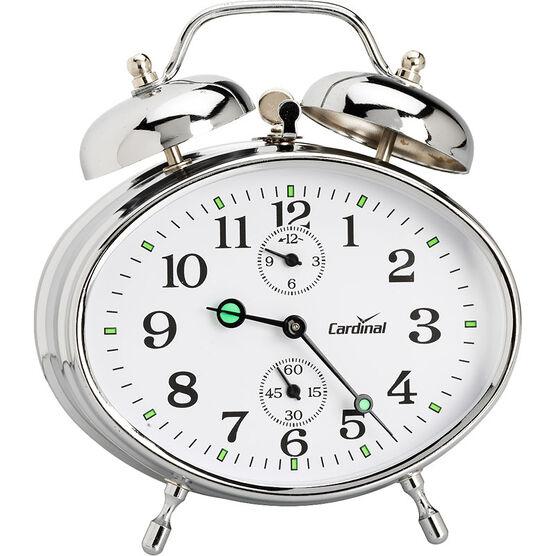 Cardinal Key Wound Twin Bell Alarm - Silver - 8827