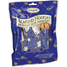 Golden Bonbon Soft Almond Nougat Candy - 100G