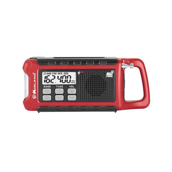 Midland Compact Emergency Crank Radio - Black/Red - ER210