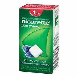 Nicorette Gum - Extreme Chill Mint - 4mg - 25's