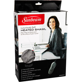 Sunbeam Heated Personal Shawl - Brown - SHWL825-MM