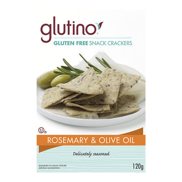 Glutino Gluten Free Snack Crackers - Rosemary & Olive Oil - 120g