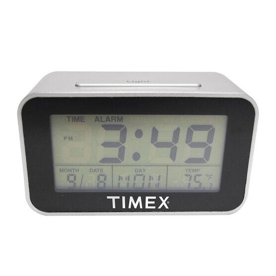 Timex Digital Alarm Clock - Silver/Black - 2605T