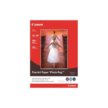 Canon FA-PR1 Fine Art Paper Photo Rag - 13 x 19 inch - 20 sheets - 0587B009