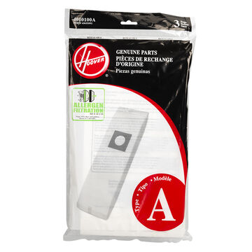 Hoover Upright Allergen Bags - Type A - 2 pack