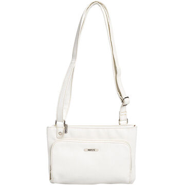 Roots Crossbody with Front and Back Zipper Pockets - Assorted