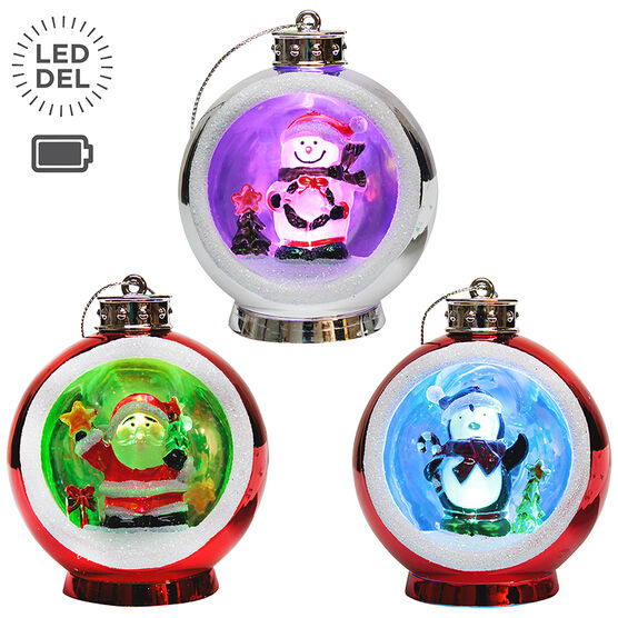 Danson Battery Operated LED Figure Ornament - 3in - X96418FOB - Assorted