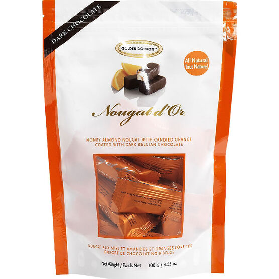Golden Bonbon Nougat d' Or Dark Chocolate - Candied Orange - 100g