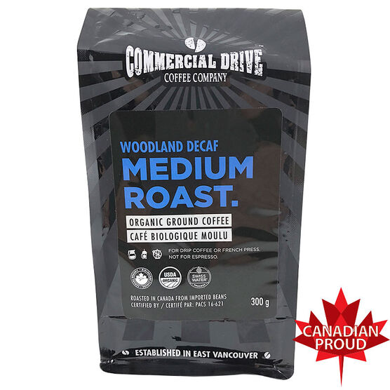 Commercial Drive Ground Coffee - Woodland - Decaf - 300g
