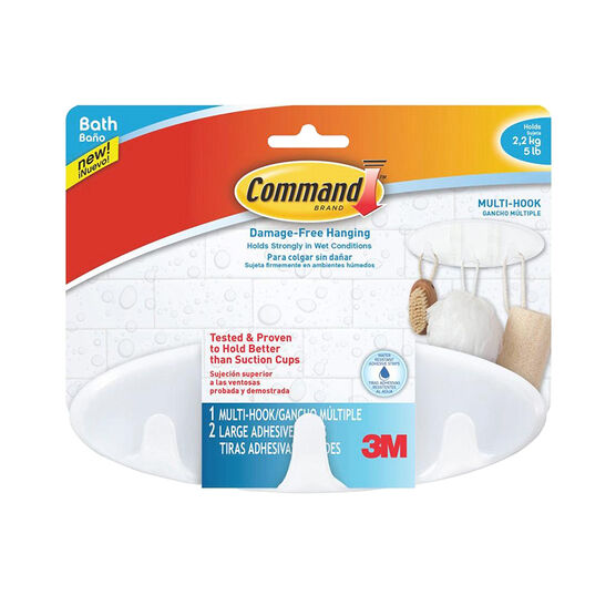 3M Command Bath Multi-Hooks - BATH21-ES