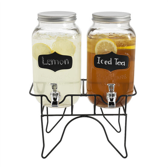 London Drugs Beverage Dispenser with Black Board Labels - Set of 2