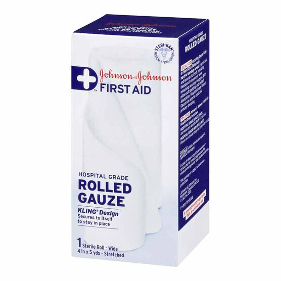Johnson & Johnson Rolled Gauze - 4inch x 5yards