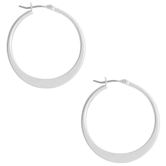 Kenneth Cole Hoop Earrings - Silver Tone