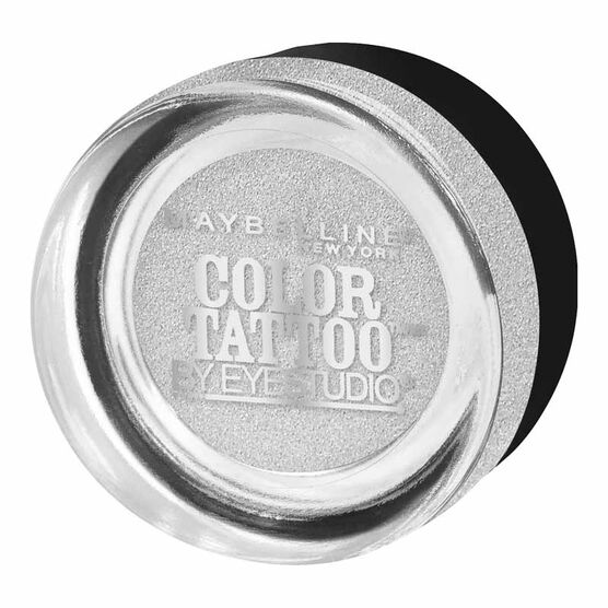 Maybelline EyeStudio Color Tattoo Metal Eyeshadow - Silver Strike
